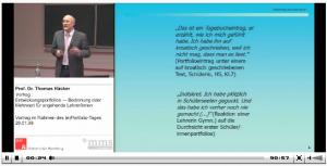 Vortrag von Prof. Dr. Thomas Häcker über Portfolios im Bildungskontext