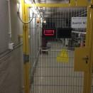 Eine geschlossene Interlock-Tür
