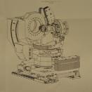 Schematische Zeichnung einer Experimentierstation an der der Röntgenstrahl auf eine Probe fällt.